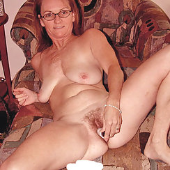 Cute Girl Wearing Glasses Fucking Her Hairy Pussy