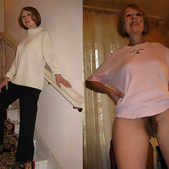 Hot Grandma Shows Hairy Pussy Photos With Us