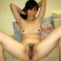 Extremely Hairy Asian Babe Shows Us Her Body