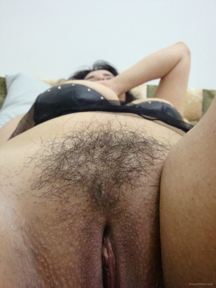 She Pulls Down Her Undies To Show Off Her Very Hairy Pussy