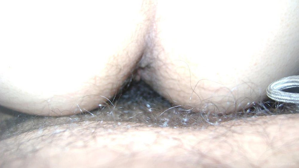 Hairy Babe Moves Panties Aside To Get Fucked