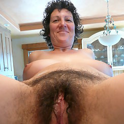 Mom Shows Her Hairy Pussy For Us To Enjoy