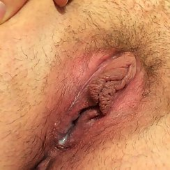 Closeup Of Wife's Hairy Wet Pussy Makes Our Mouths Water
