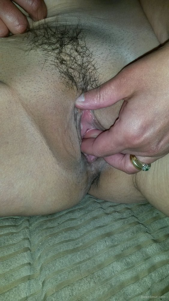 Wife Enjoys Fingering Her Hairy Pussy In This Scene