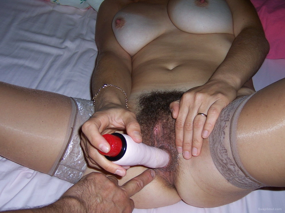 Husband Fucks His Wife's Hairy Pussy In This Scene