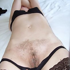 Sexy Mature Woman In Lingerie Has Hairy Pussy