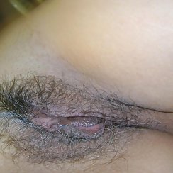 Babe Has Grey Pubes And Wet Pussy