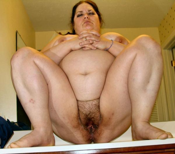 Big BBW Babe Shows Us Her Hairy Pussy In This Scene