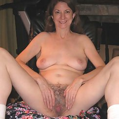 Older Woman Shows Us Her Hairy Pussy, She Has Grey Pubes!