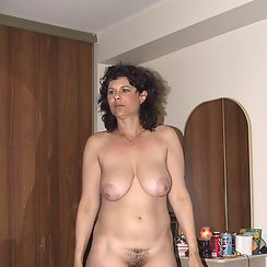 Hairy Mom Shows The World Her Hairy Pussy