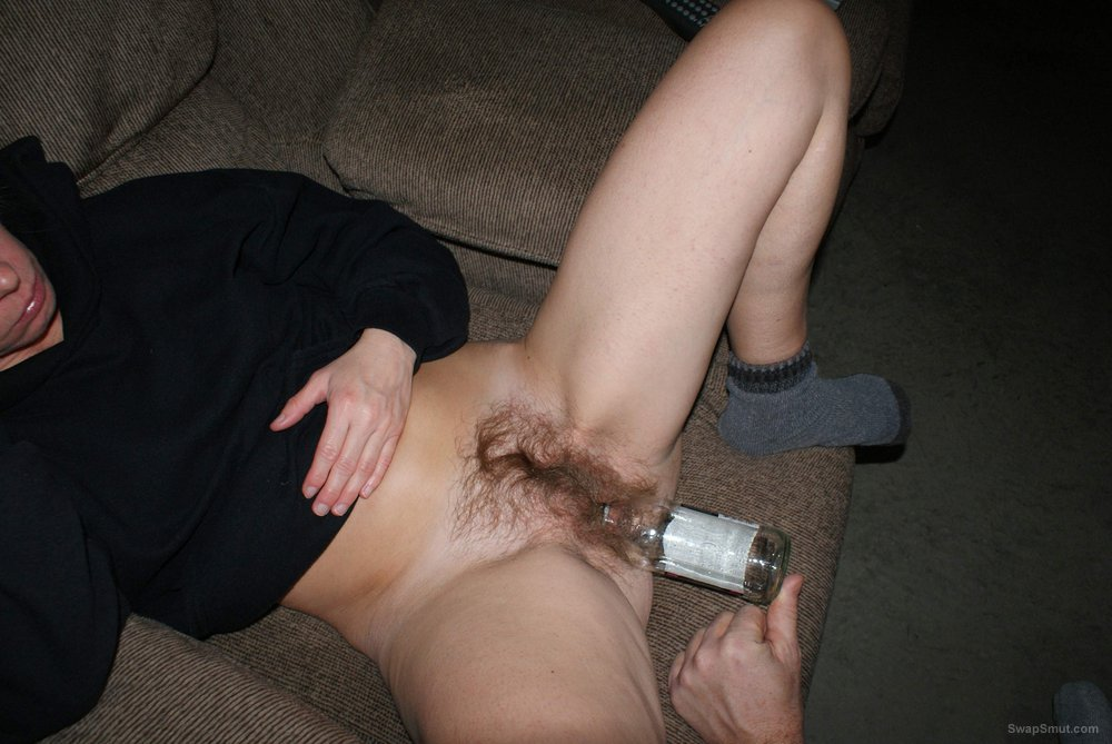 Getting Fucked With A Booze Bottle