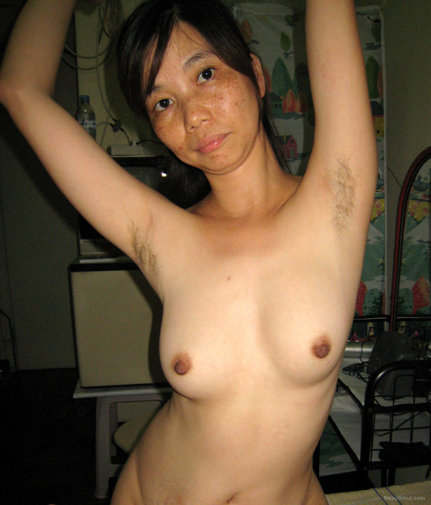 Hairy amateur pits asian