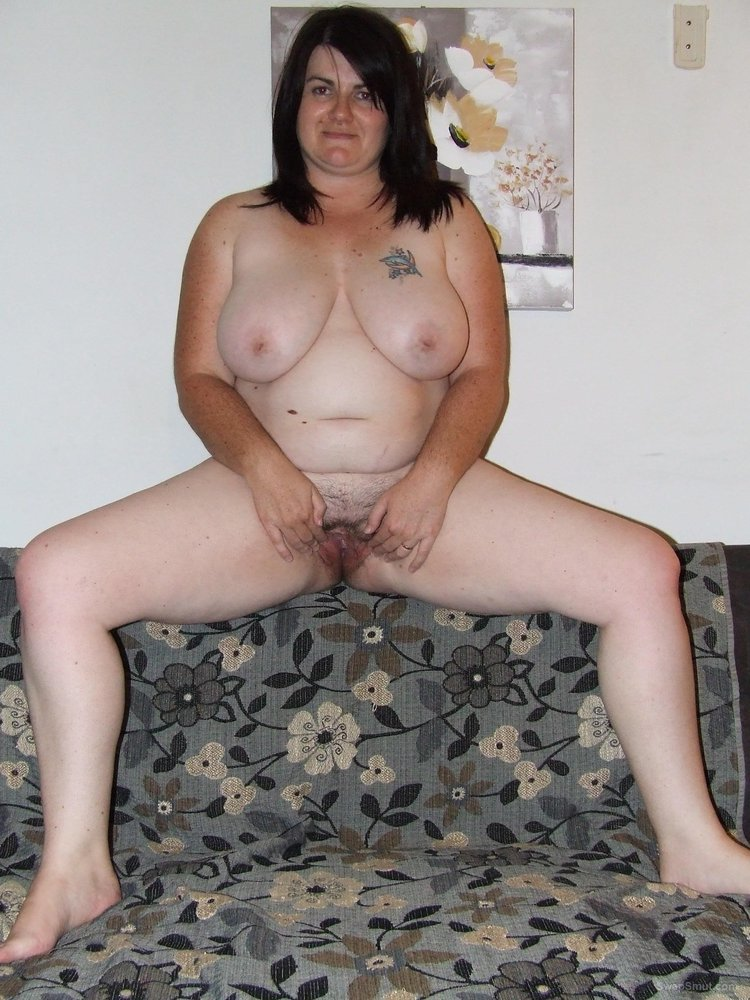 Big BBW Girl Shows Us Her Hairy Pussy