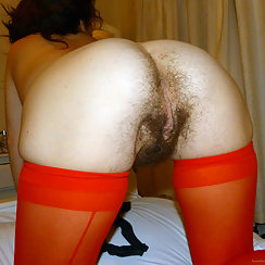 Hairy Babe Bends Over, Exposes Very Nice And Hairy Pussy