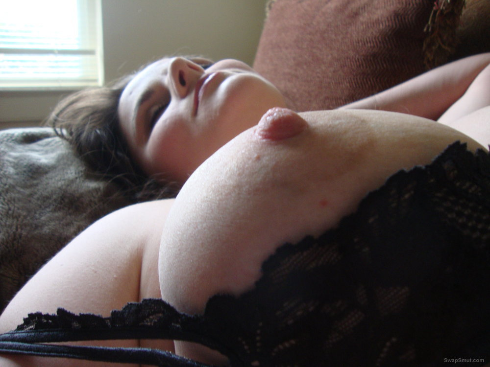 Laying On The Couch, Bearing Her Hairy Pussy For All To See