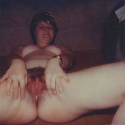 Vintage Photos Show Mature Babe Playing With Hairy Pussy