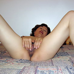 Hairy Asian Babe Masturbates And Gets Off