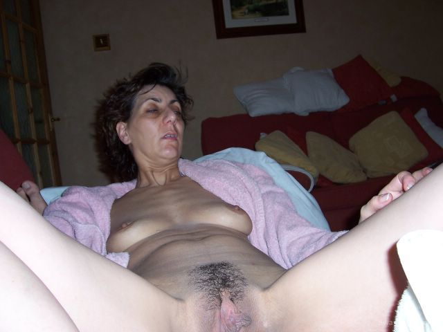 Mature Hairy Woman Jerks BF Off