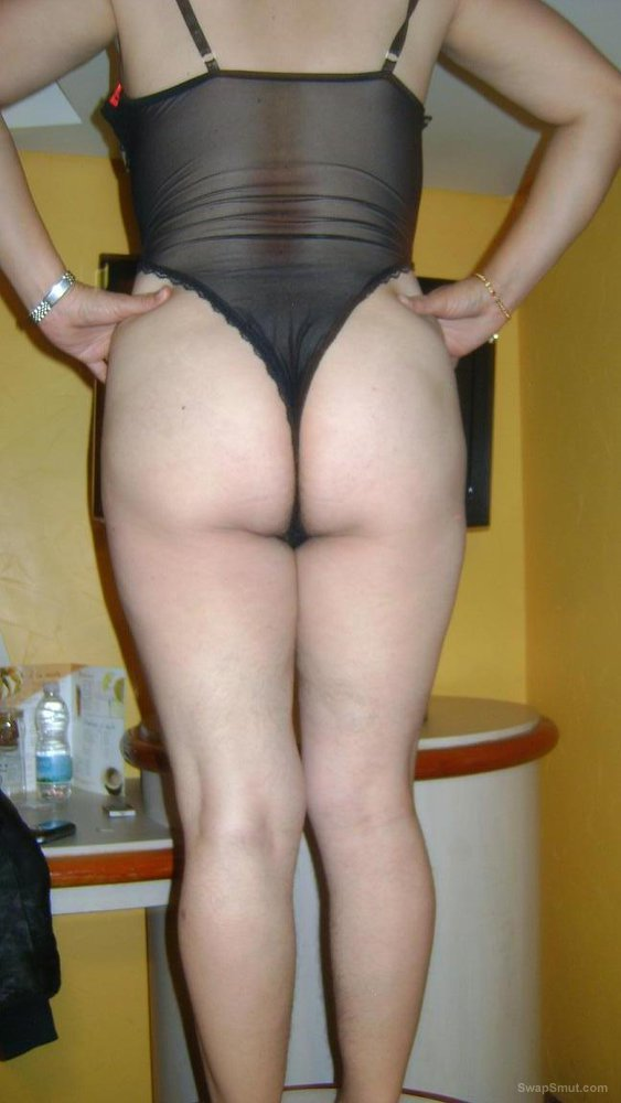 Hairy Wife Looks Great Wearing Lingerie, Exposes Boobs And Pubes