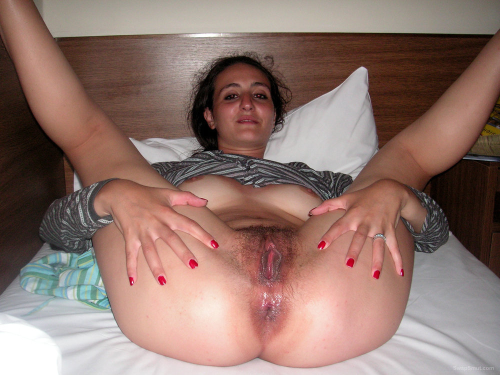 She Bends Over And Shows Her Hairy Twat