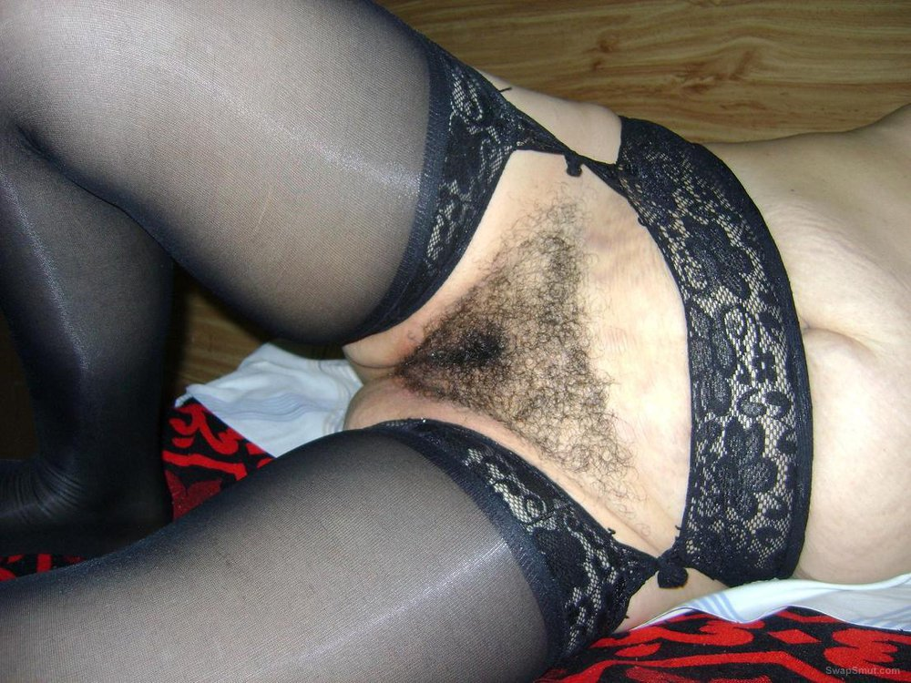 She's Wearing Lingerie And Shows Off Her Hairy Juicy Pussy After Masturbating