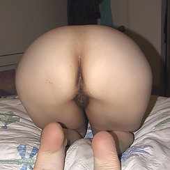 Bent Over Mature Babe Has Hairy Pussy