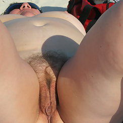Hot BBW Tanning Outdoors