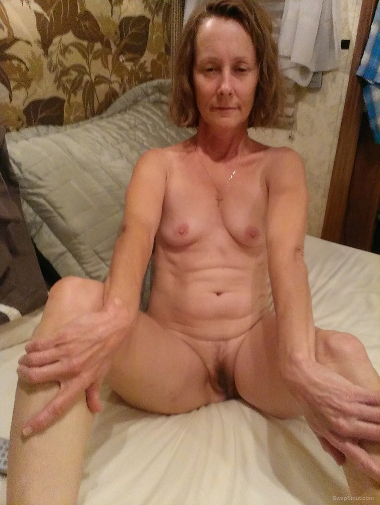 Petite Mature Woman Shows Us That Landing Strip Of Hers