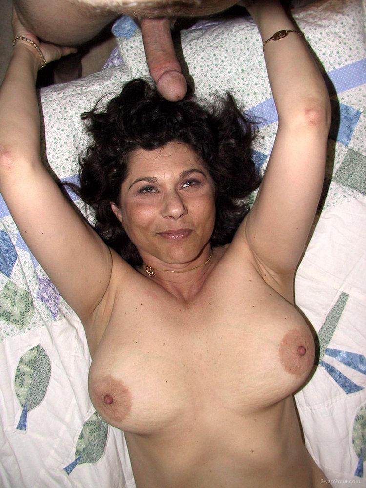 Brunette Pulls Down Her Panties And Sucks Cock