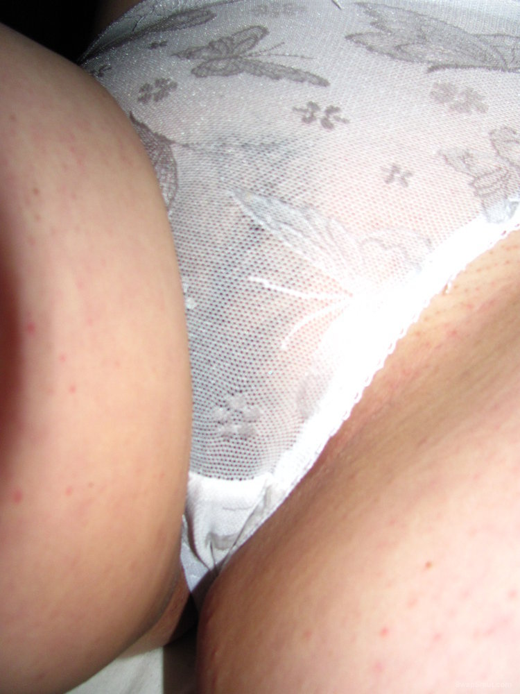 White Panties Covering Hairy Bush