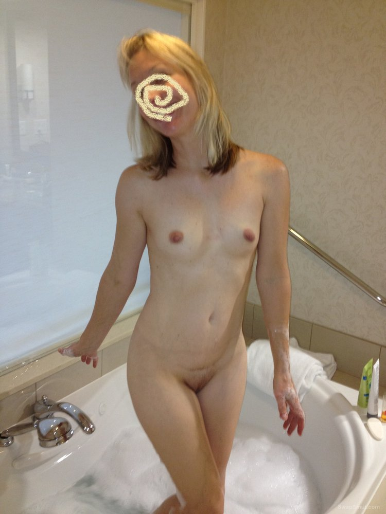 Slightly Hairy Blonde Shows Me Her Hairy Twat