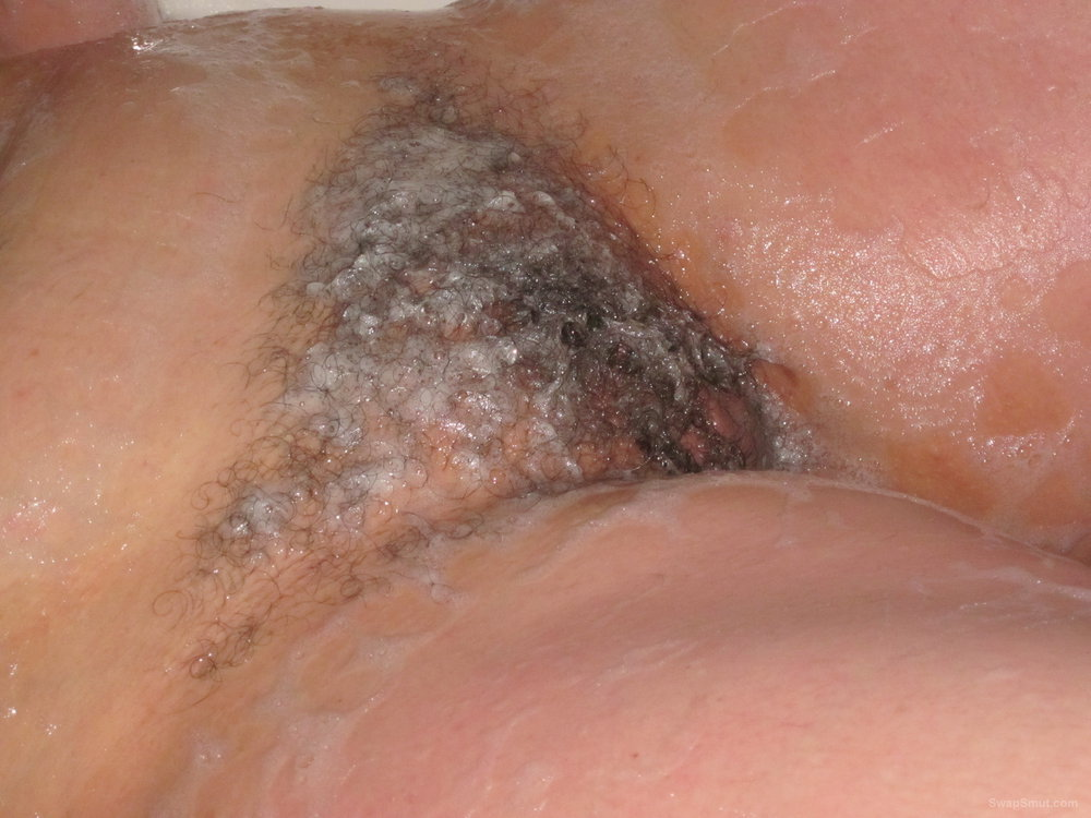 Hairy Pussy Exposed After Pulling Panties Down