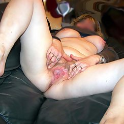 Girl With Big Tits Stretches Her Pussy And Shows How Hairy She Is