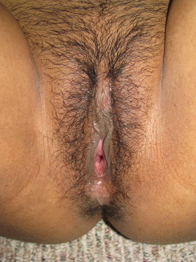 Hairy Babe Has Big Hard Nipples, Bushy Pussy