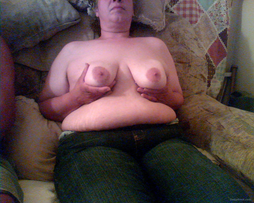 BBW Shows Her Big Tits Before Her Hairy Pussy