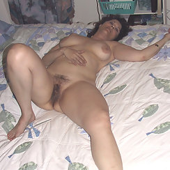 She's Turned On And Has A Very Hairy Pussy