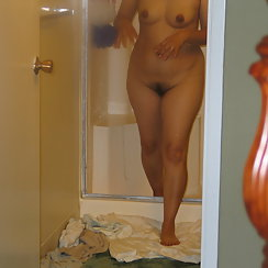 Hairy Babe Coming Out Of The Shower