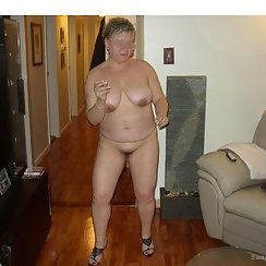 Horny Granny Doesn't Mind Showing Us Her Hairy Twat
