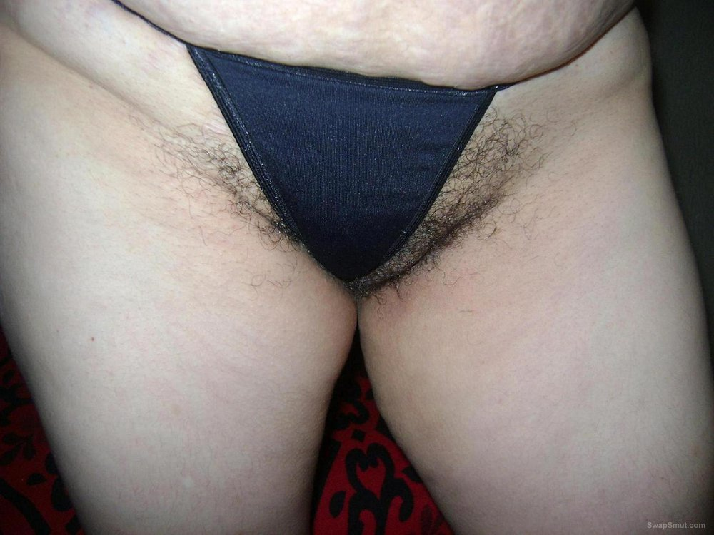 She's Wearing A Thong And Her Pubes Are Wild!