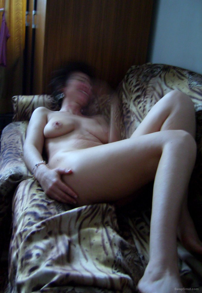 Hot Wife Shows Us Her Lingerie, Hairy Pussy And Tits!